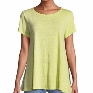 NWT Eileen Fisher Organic Linen Jersey T-Shirt XL